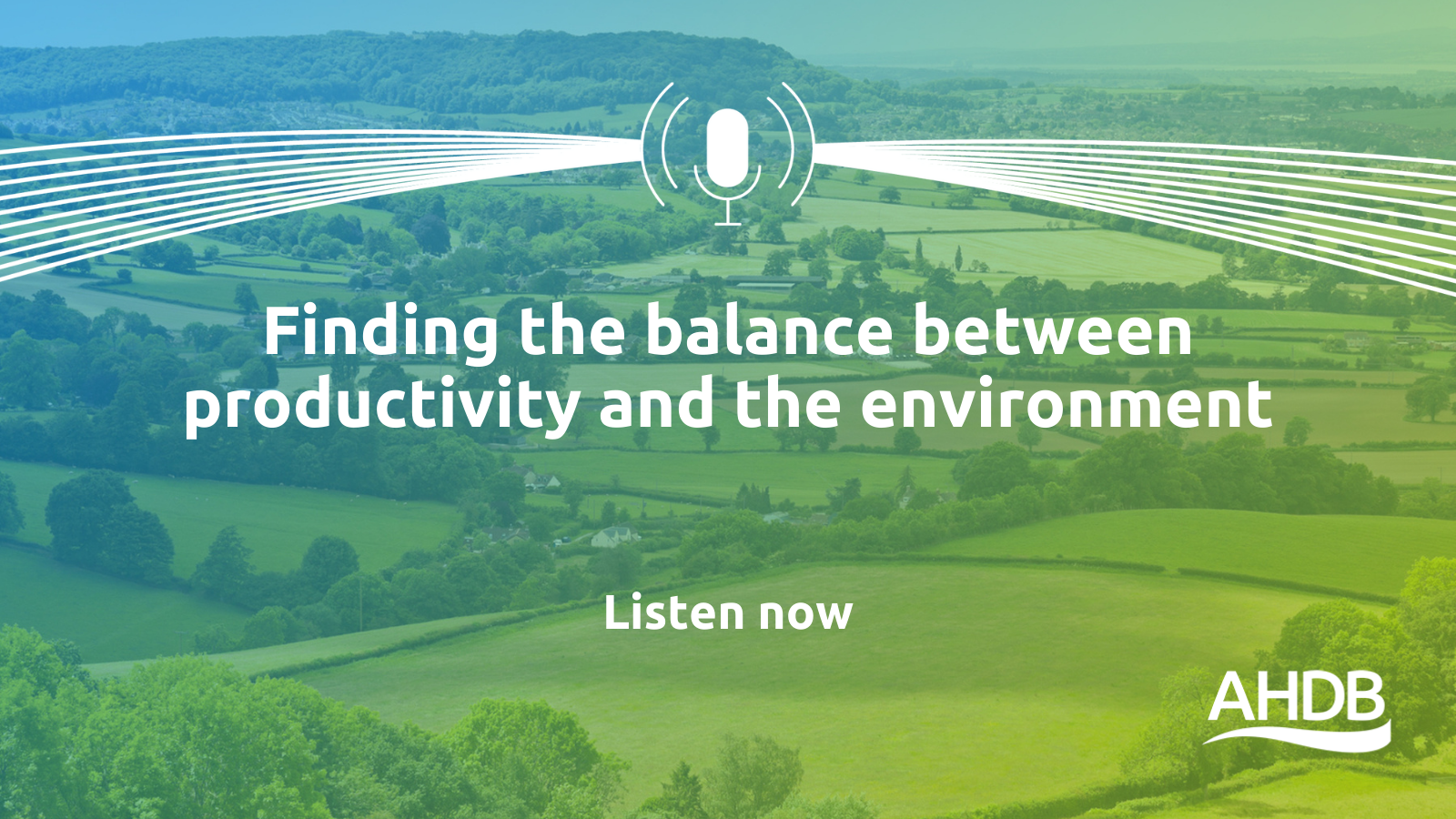 In this podcast Tom Vickers talks about finding a balance between production and the environment.